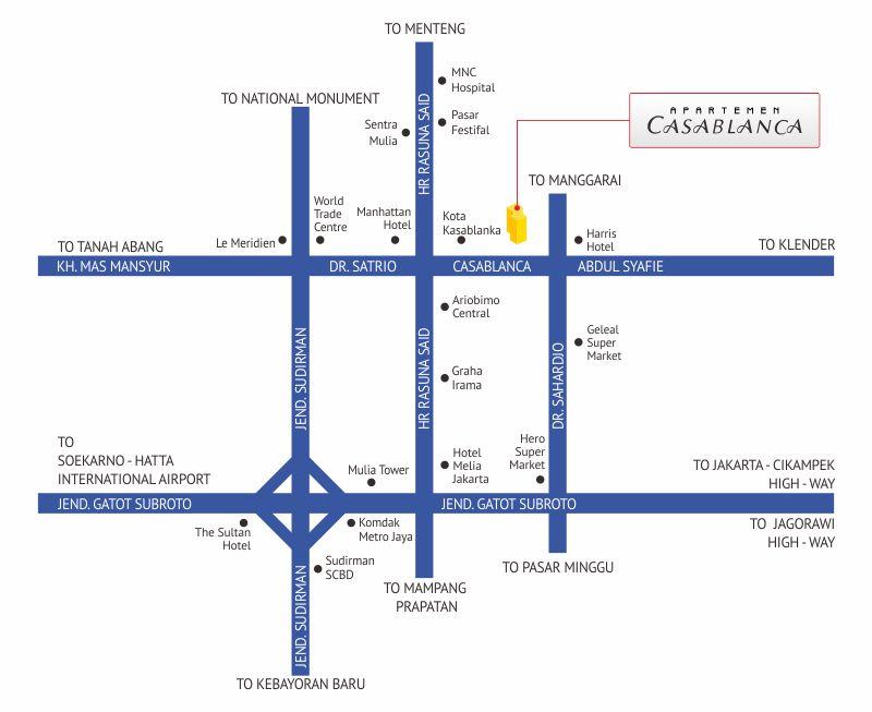 Apartemen Casablanca Location